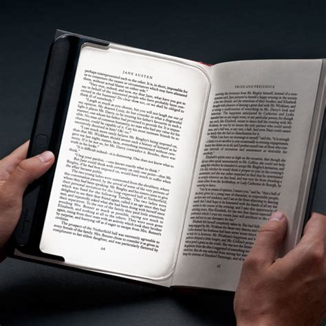 Lightwedge The Energy Efficient Reading Light by Lightwedge Makes Reading A Book Look Like Reading From A