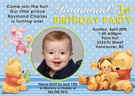winnie the pooh birthday invitations templates winnie the pooh birthday invitations drevio invitations