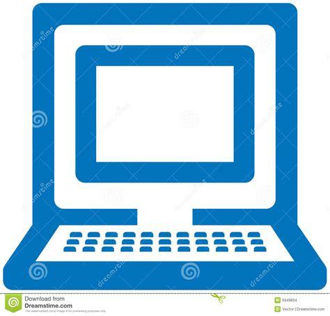 design logo komputer pc vector icon stock vector image of illustration icon