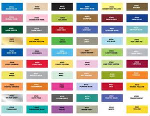 all color 7 best images of chart with common color names color