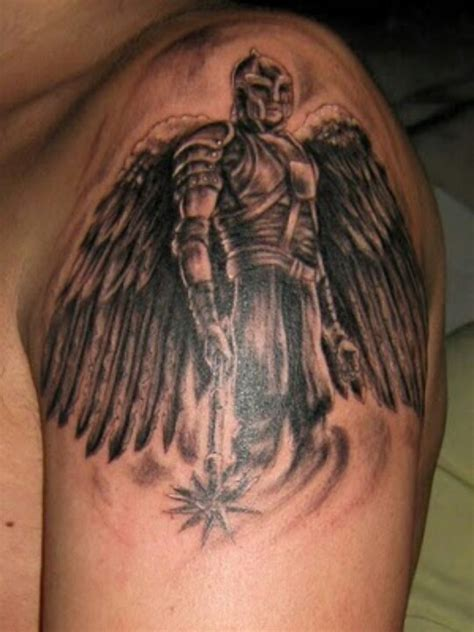 angel michael tattoo designs michael spartan warrior tattoos