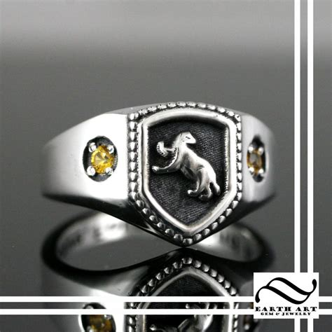 buy a made hufflepuff house ring harry potter