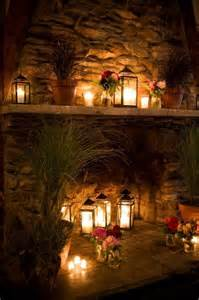 lanterns in outdoor fireplace candle holders and more