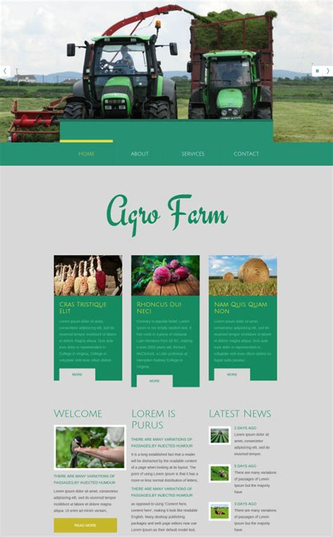 agriculture themes html free agriculture website templates themes free