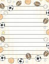 Football Writing Paper Football Paper Border Galleryhip Com The Hippest