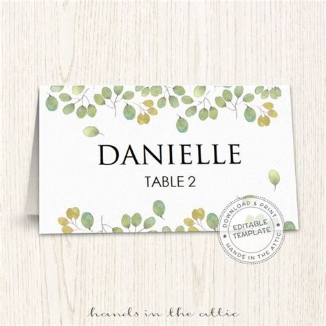 guest place card template 25 best ideas about printable place cards on