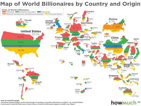 country on world map the world map of billionaires valuewalk