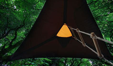 tensile tree tent a portable treehouse in hammock style