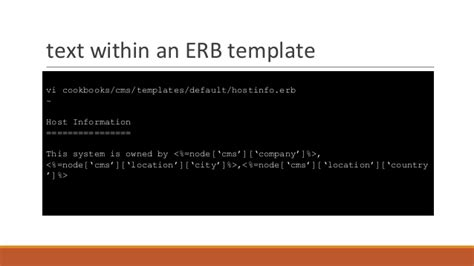 chef template variables introduction to chef