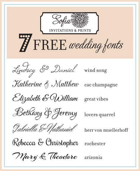 Wedding Invitation Font On Word by Free Script Calligraphy Wedding Invitation Fonts Sofia