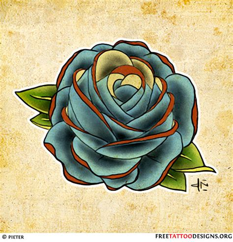 meaning of a blue rose tattoo 50 tattoos meaning