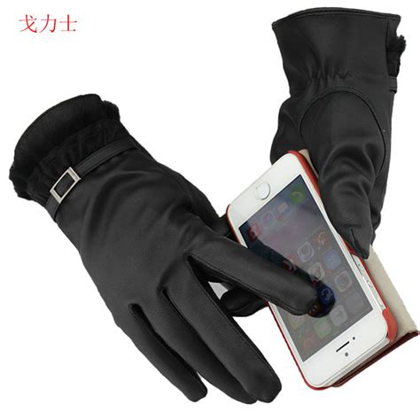 Sarung Tangan Kulit Suede simulation can touch lace leather gloves wrestlers touch touch ms ge gloves in gloves