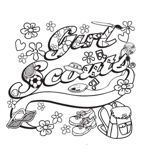 coloring page girl scout cookies girl scout cookie coloring pages coloring home