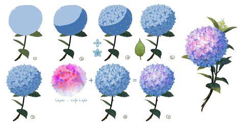 watercolor tutorial pixiv how to draw hydrangea by seeker http www pixiv net