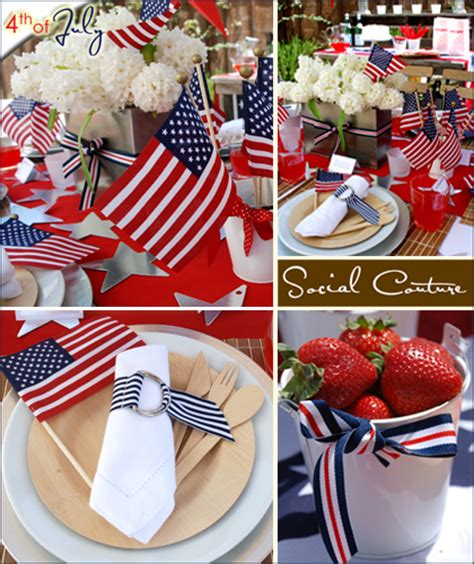 July 4th Table Decorations by The Patriotic Table Hostess With The Mostess 174