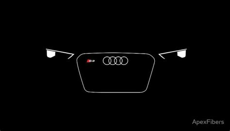 audi headlights poster small german sedan led headlights and grill poster