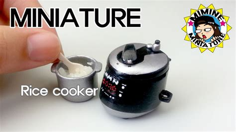 Rice Cooker Mini Denpoo eng 미니어쳐 전기밥솥 만들기 밥도 함ㅋㅋ miniature rice cooker 미미네미니