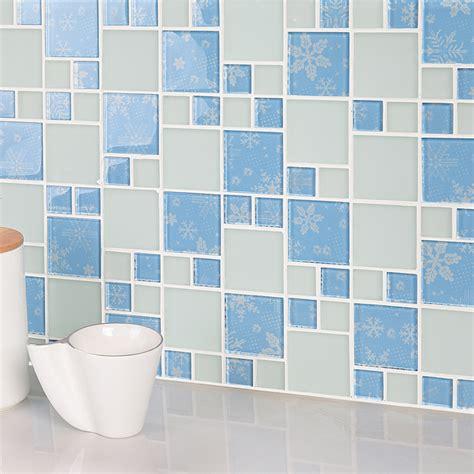hall bathroom tiles light bule crystal glass mosaic tile forst glass tiles kitchen bathroom hall