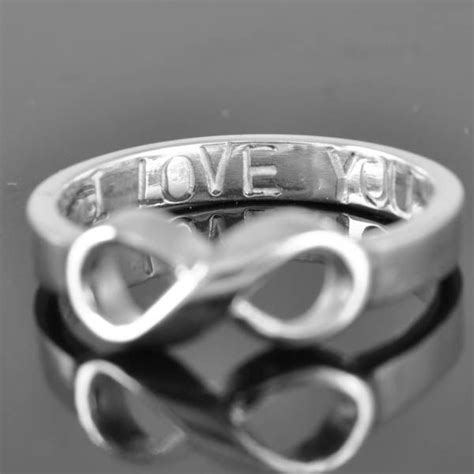 infinity ring knot ring sterling silver i you