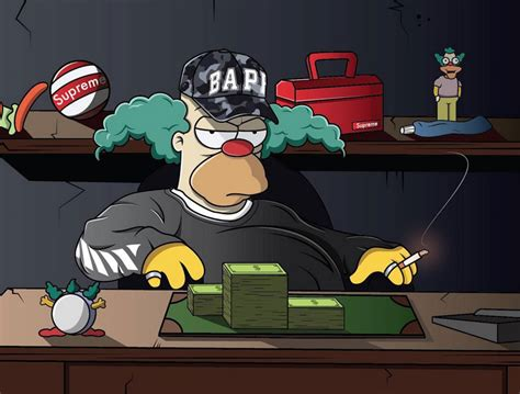 Bart Simpsons X Supreme the simpsons get illustrated wearing bape supreme and