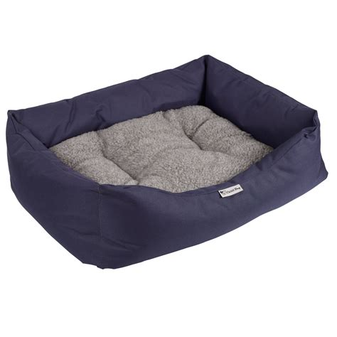 waterproof dog bed chilli dog navy waterproof dog bed large ebay