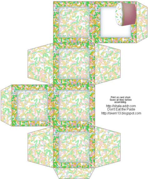 cupcake box template templates pinterest