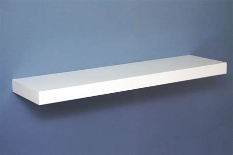 gloss white floating shelf 900x250x50mm mastershelf
