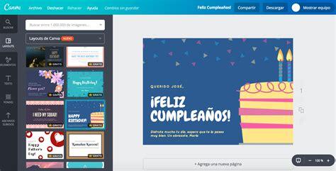canva gratis crea tarjetas de cumplea 241 os personalizadas gratis canva