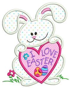 pin easter bunny free patterns and bunny motifs on pinterest pascua bunny applique split pascua applique por