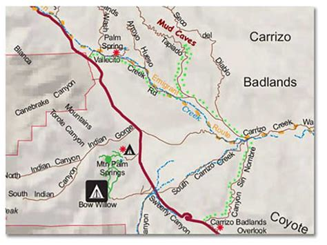 california caves map the arroyo tapiado carrizo badlands mud caves of anza