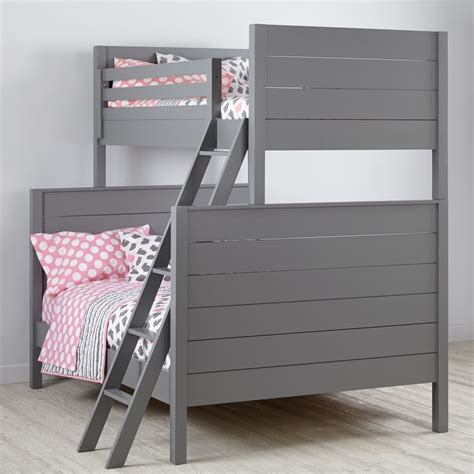 Land Of Nod Bunk Beds Uptown Bunk Bed Grey The Land Of Nod