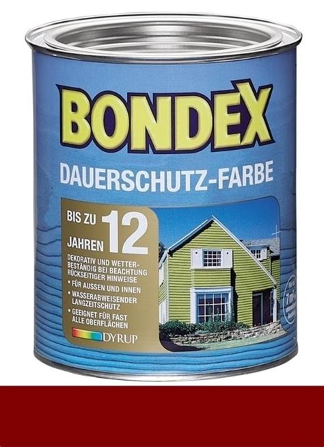 bondex lasur farben bondex dauerschutz farbe 0 75 l schwedenrot
