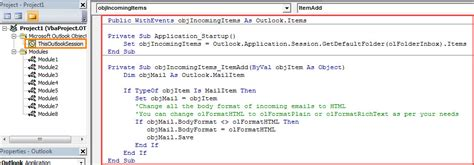 format email body vba how to auto change the body format of incoming emails via