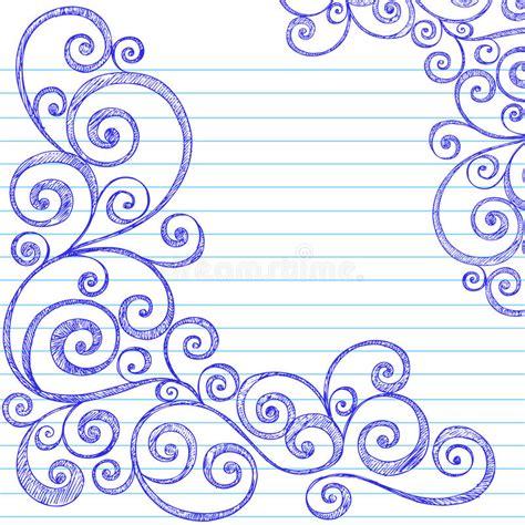 free vector doodle swirls sketchy doodles swirls on notebook paper vector stock