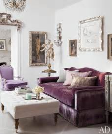 Living Room With Purple Sofa » Home Design