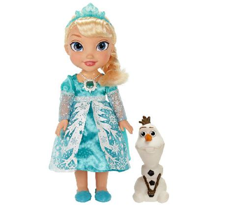 Light Up Elsa Doll disney s frozen singing elsa doll with light up dress and olaf qvc