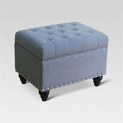 Target Ottoman by Danbury Tufted Storage Ottoman With Nailheads Threshold