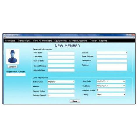 Fitness Management Software - management software at rs 15000 software