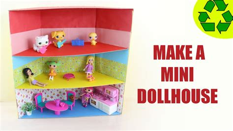 how to make a doll house out of cardboard how to make a mini dollhouse ver 1 super easy doll crafts youtube