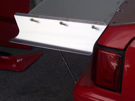 mustang aluminum wing 79 93 rolled pro stock wing tips kid race cars