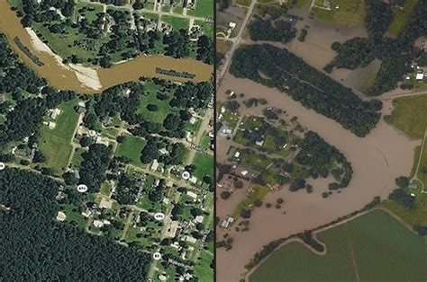 louisiana map before and after before and after historic flooding devastates louisiana