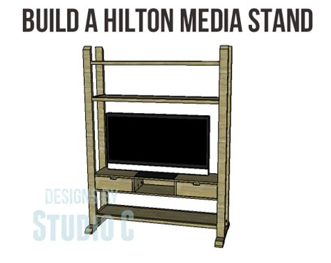 Hiltons Stand In by Build A Media Stand Designs By Studio C