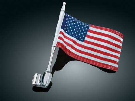 antenna flag mount with flag rear end covers trims accents kuryakyn