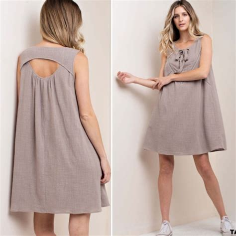 Taupe Summer by Just In Taupe Tie Front Summer Dress Poshmark