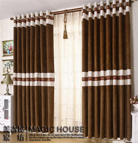 New Style Curtains Home Decorating Free Shipping Home Design Chenille Stitching Living Room Curtains Modern Style Curtain Bedroom