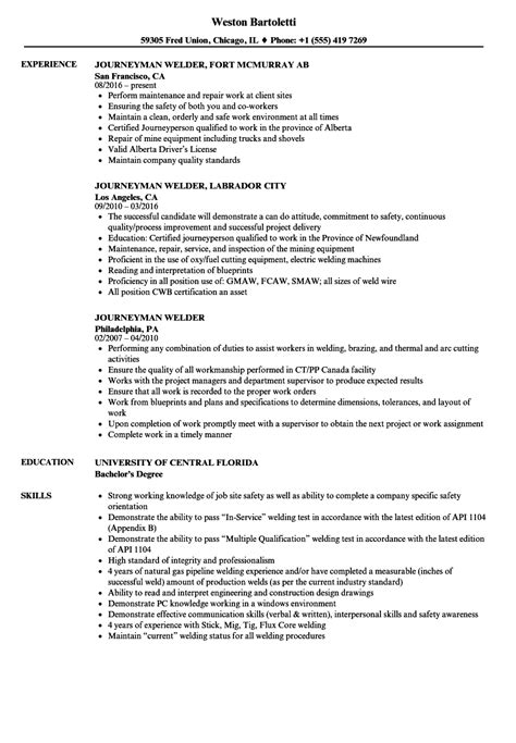 Journeyman Welder Cover Letter by Welding Resume Welder Supervisor Resume Sles Entry Level Welder Resume Size Of
