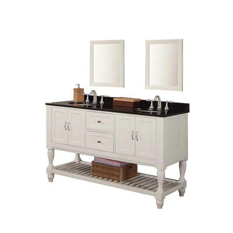 White Granite Vanity Top by Direct Vanity Sink Mission Turnleg 60 In Vanity In Pearl
