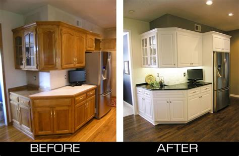 refinished cabinets before and after refacing oak cabinets white kitchen design ideas