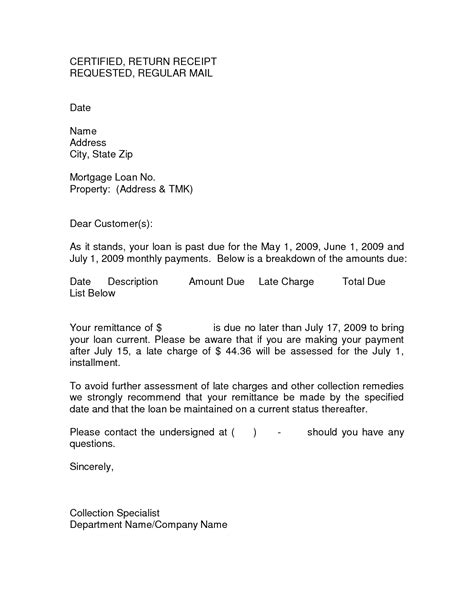 sle invoice reminder letter past due letter 10 best images of past due collection
