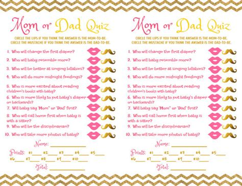 Come With Me Baby Shower The Look by Baby Shower Quiz Pink Gold